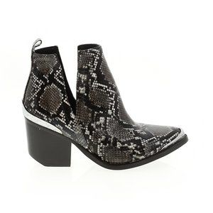 Jeffrey Campbell Cromwell Snake Skin Booties
